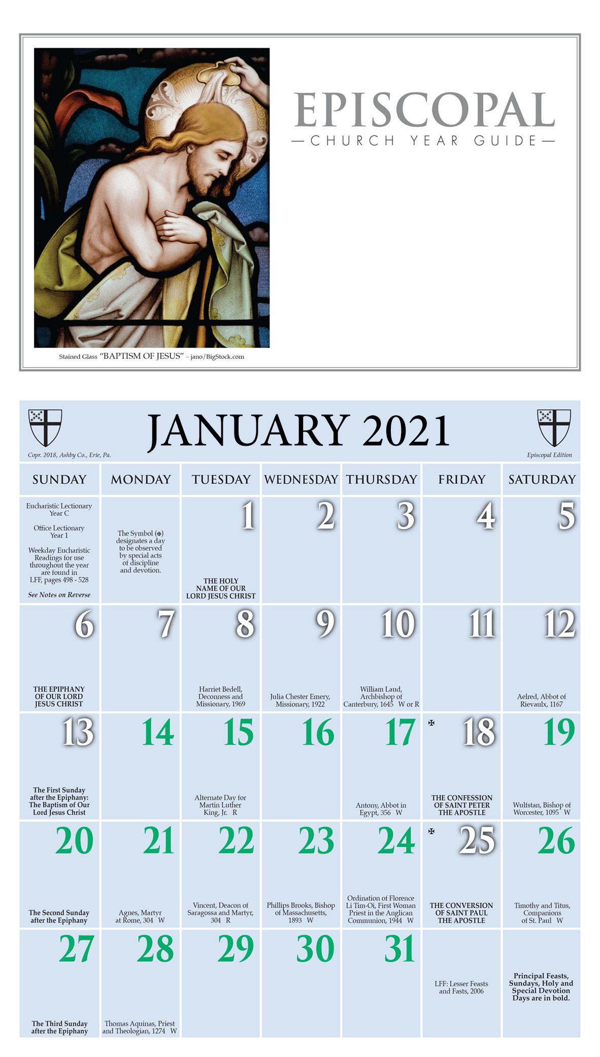 Churchpublishing: Episcopal Church Year Guide Kalendar 2021