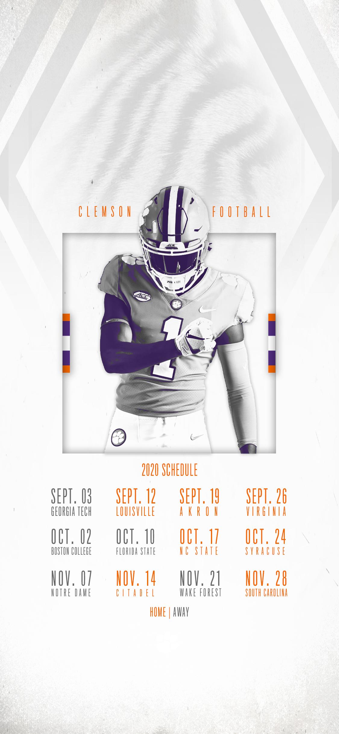 Clemson Announces 2020 Football Schedule – Clemson Tigers