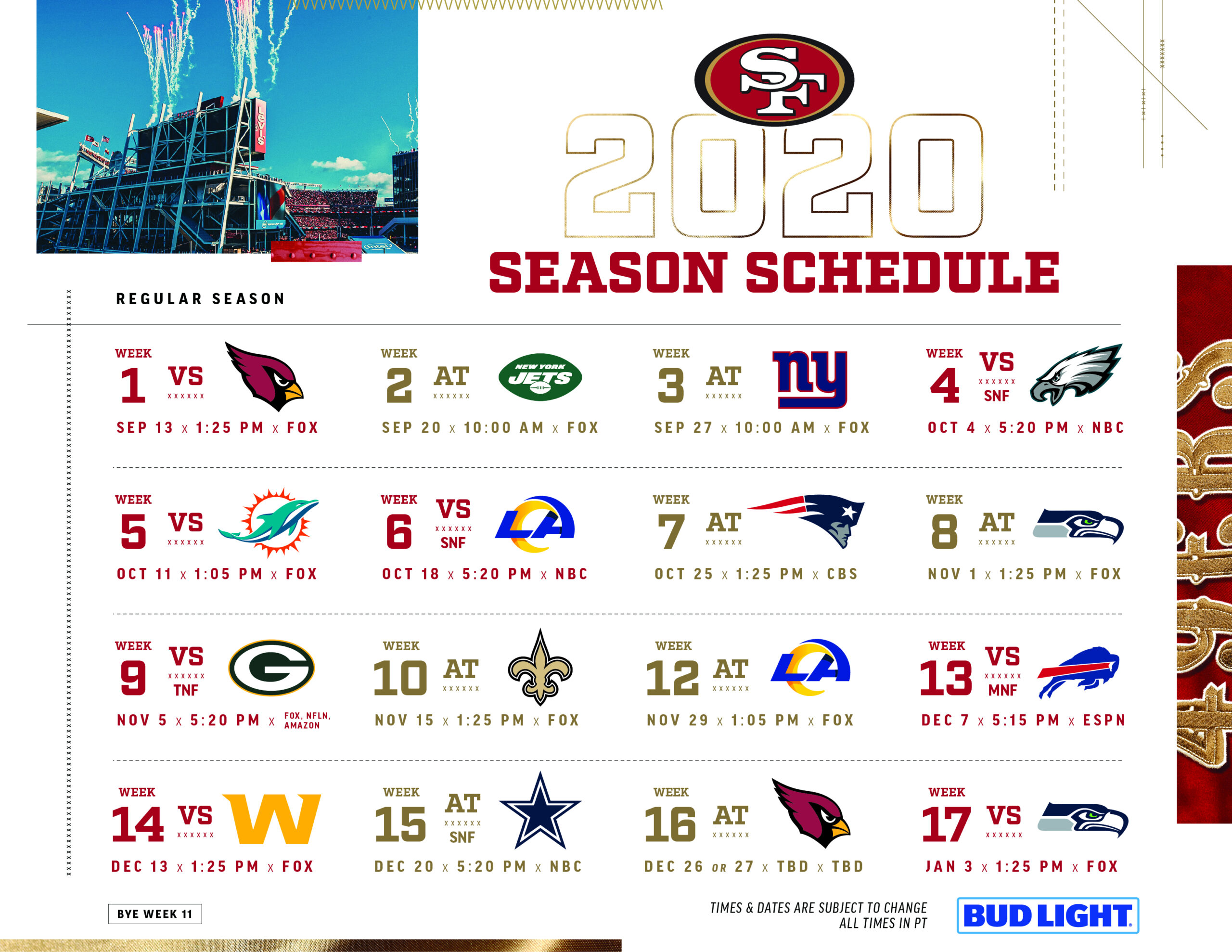 Click The Link Below For A Printable 2020 Schedule