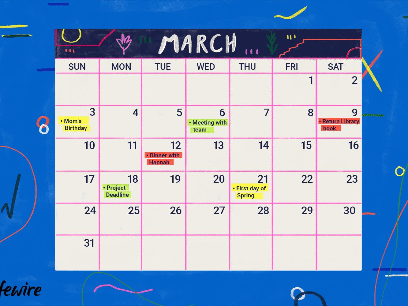 Color Coded Calendar Template Unique 5 Best Free Line