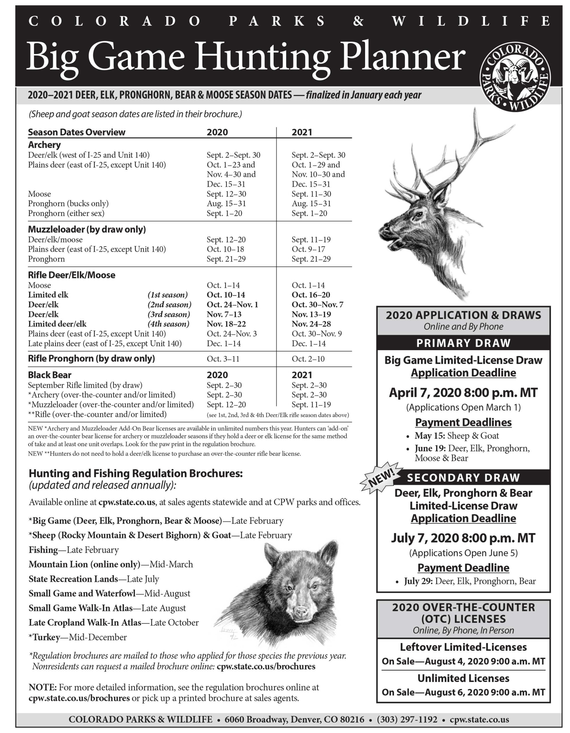 Colorado Parks And Wildlife Big Game Hunting Planner