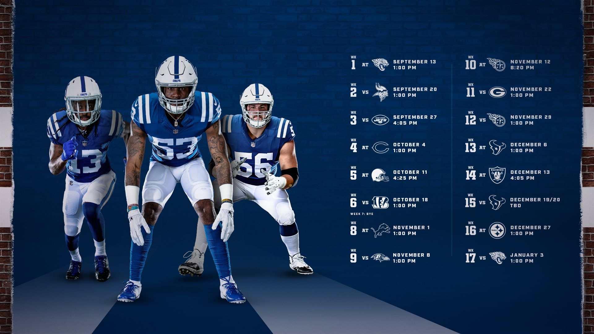 Colts Schedule | Indianapolis Colts - Colts Inside Printable