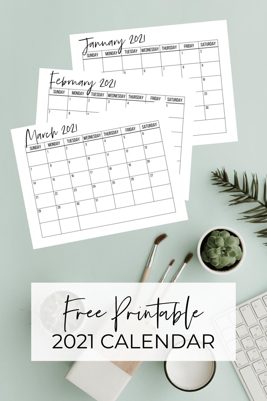 Cute (& Free!) Printable 2021 Calendar | Delivering Motherhood