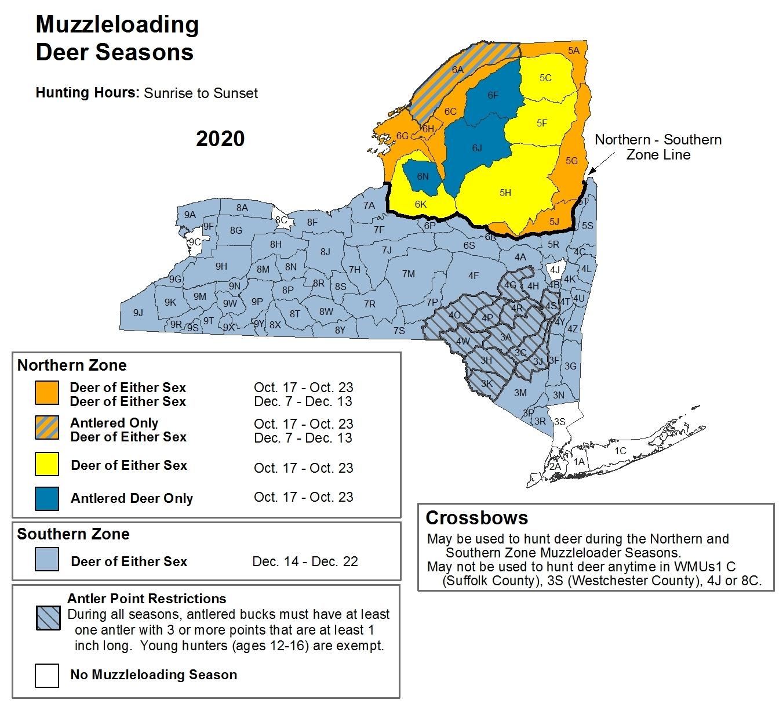 Deer And Bear Hunting Seasons - Nys Dept. Of Environmental