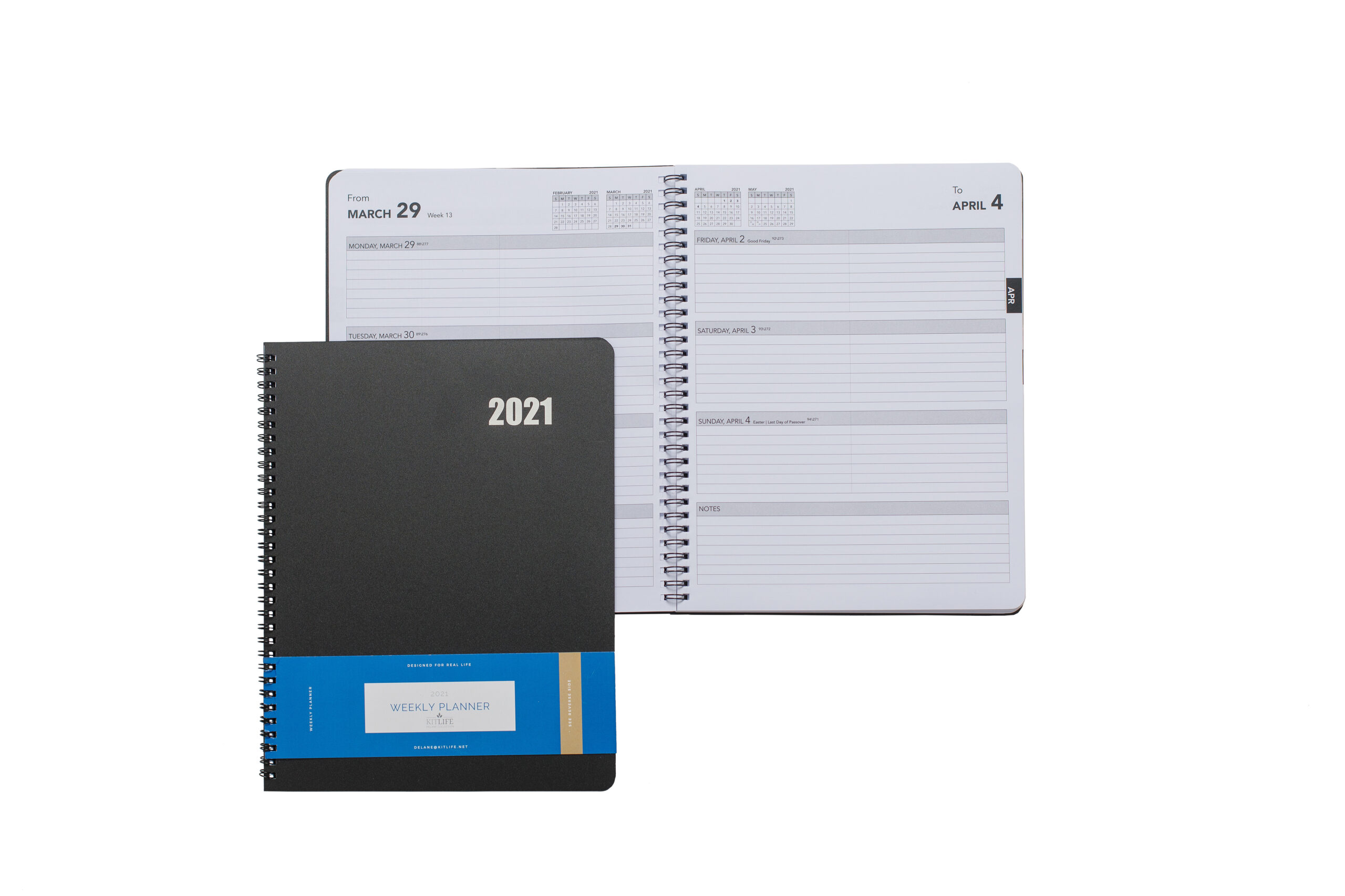 Delane Weekly Planner 2021-2022 - Spiral Bound Hourly Appointment Book – 18  Month Academic Planner – Annual Day Organizer Agenda With Premium Paper,