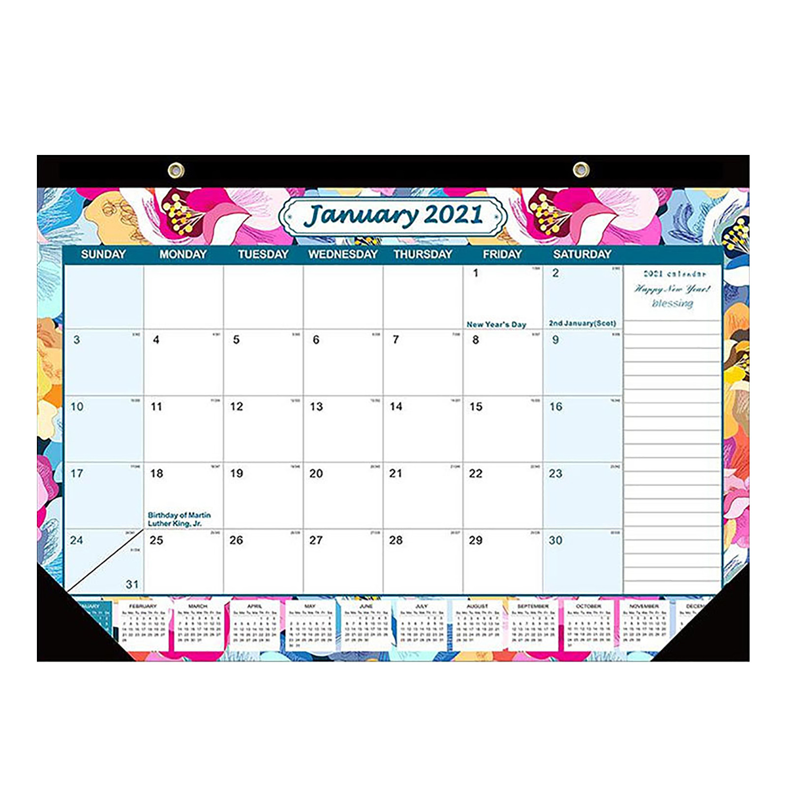 Donald 2021 Desk Calendar With Notes And Julian Date Jan 2021 Thick Paper  With Colorful - Walmart