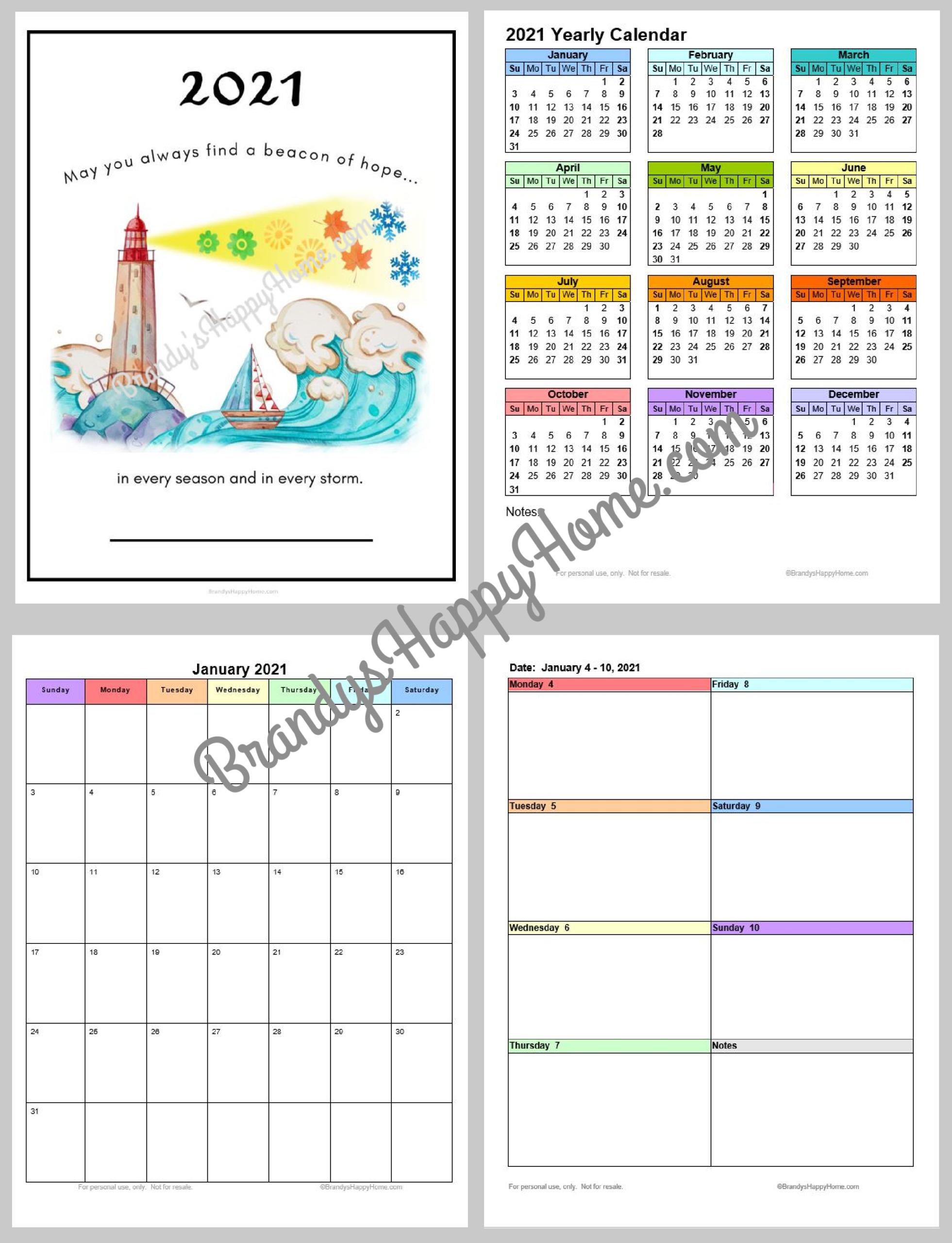 Free 2021 Calendar Planner Printables
