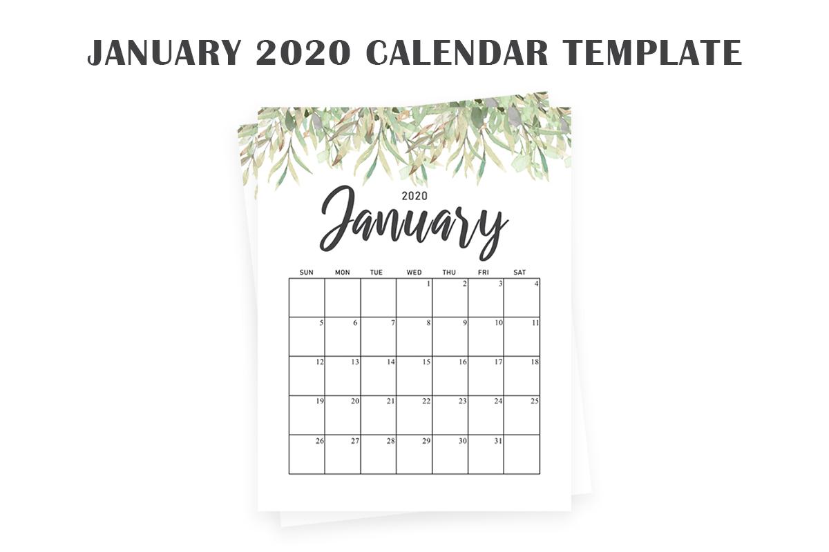 Free January 2020 Calendar ~ Creativetacos