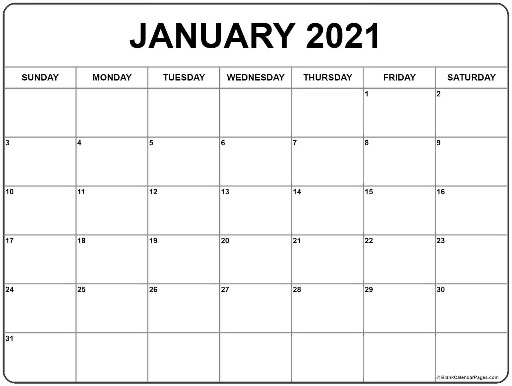 Free January 2021 Calendar Page | Print Calendar, Calendar