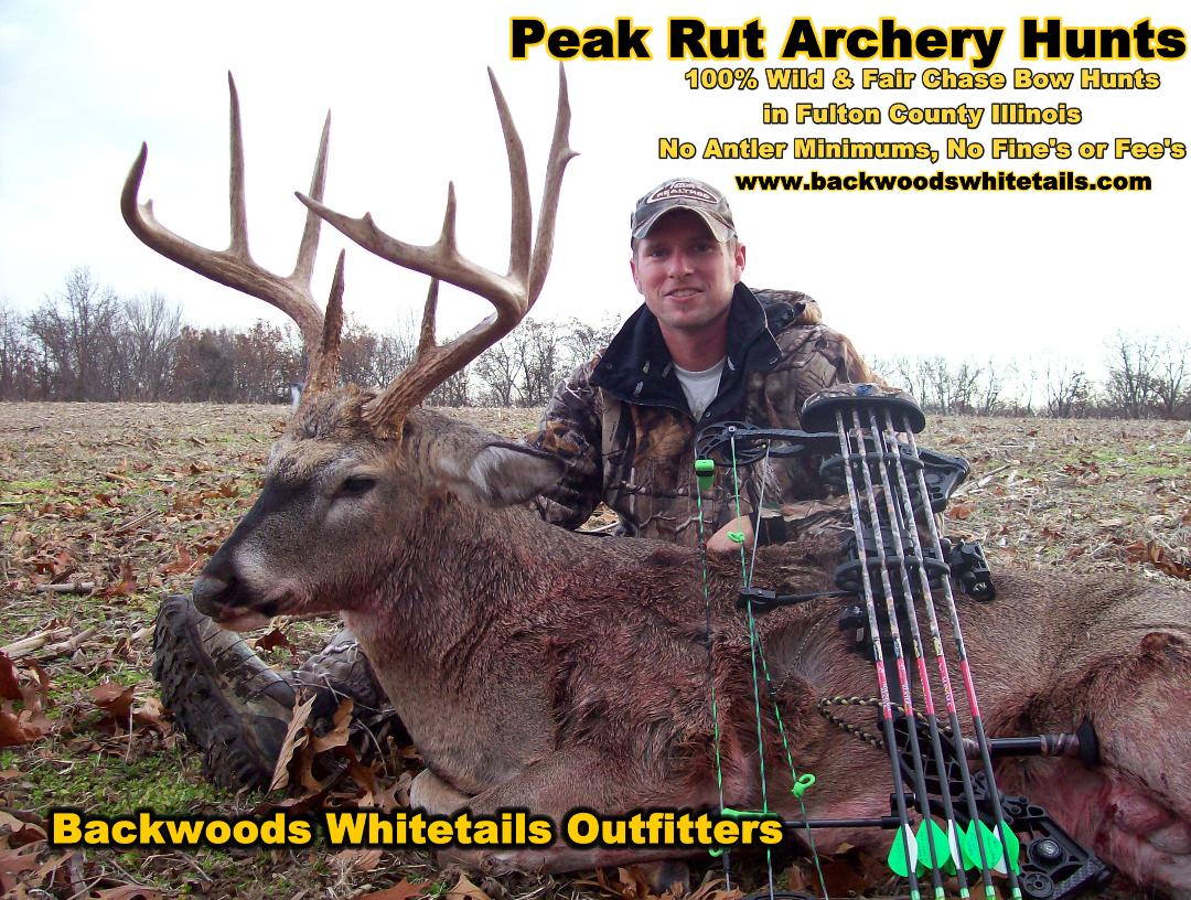 Illinois Peak Rut Bowhunting - Whitetail Deer Hunting Outfitters