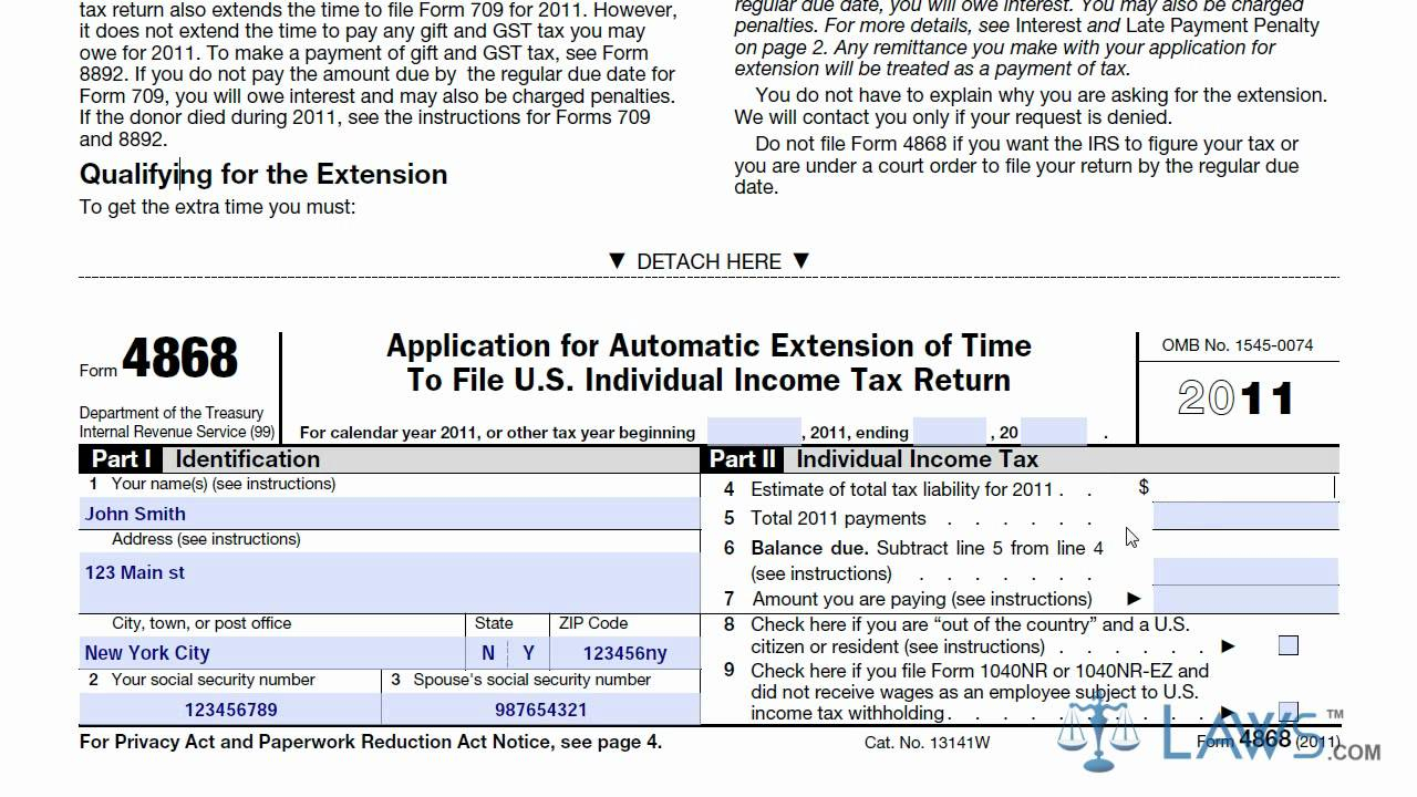 Irs Form 4868 [If You Need To File Late, Read This]