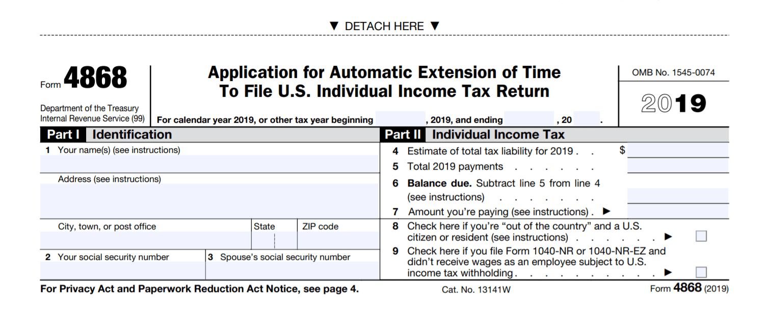 Irs Form 4868: What Is It?