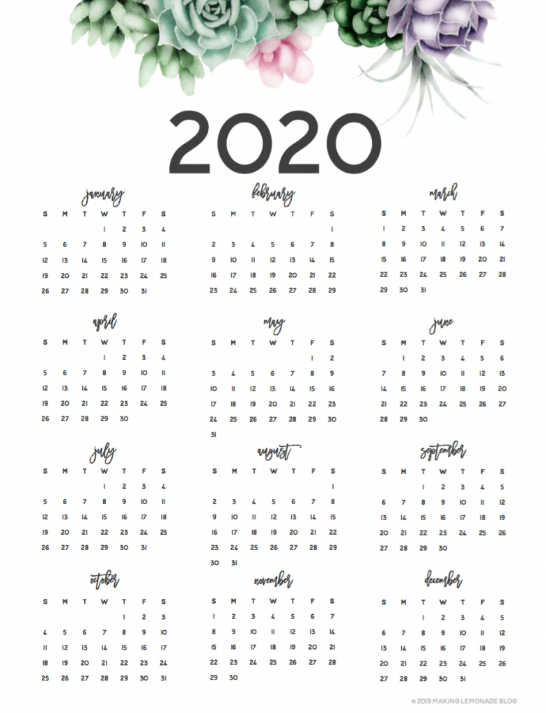 It'S Here! Get Your Free 2020 Printable Planner! | Making