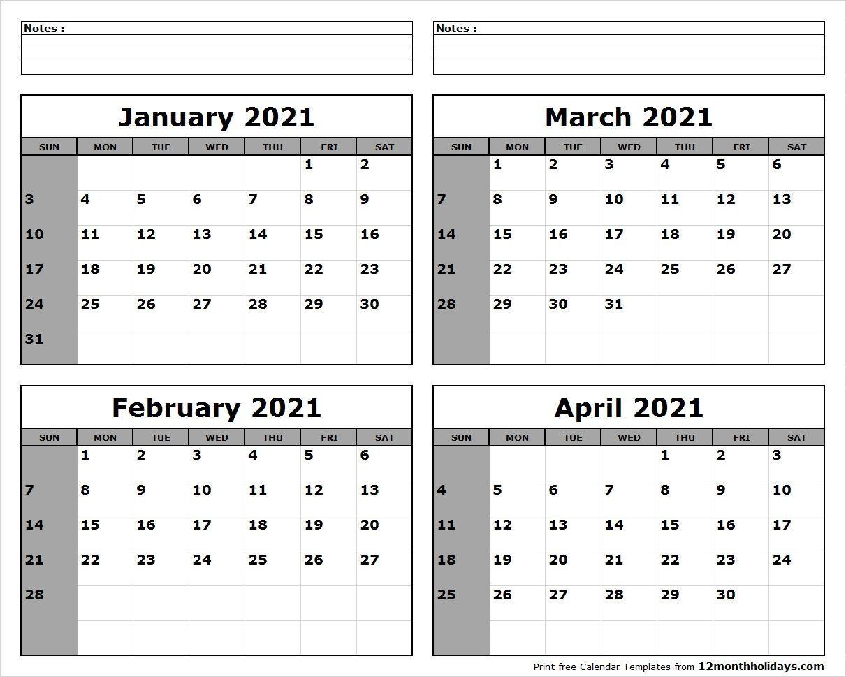 January February March 2021 Calendar | June 2019 Calendar