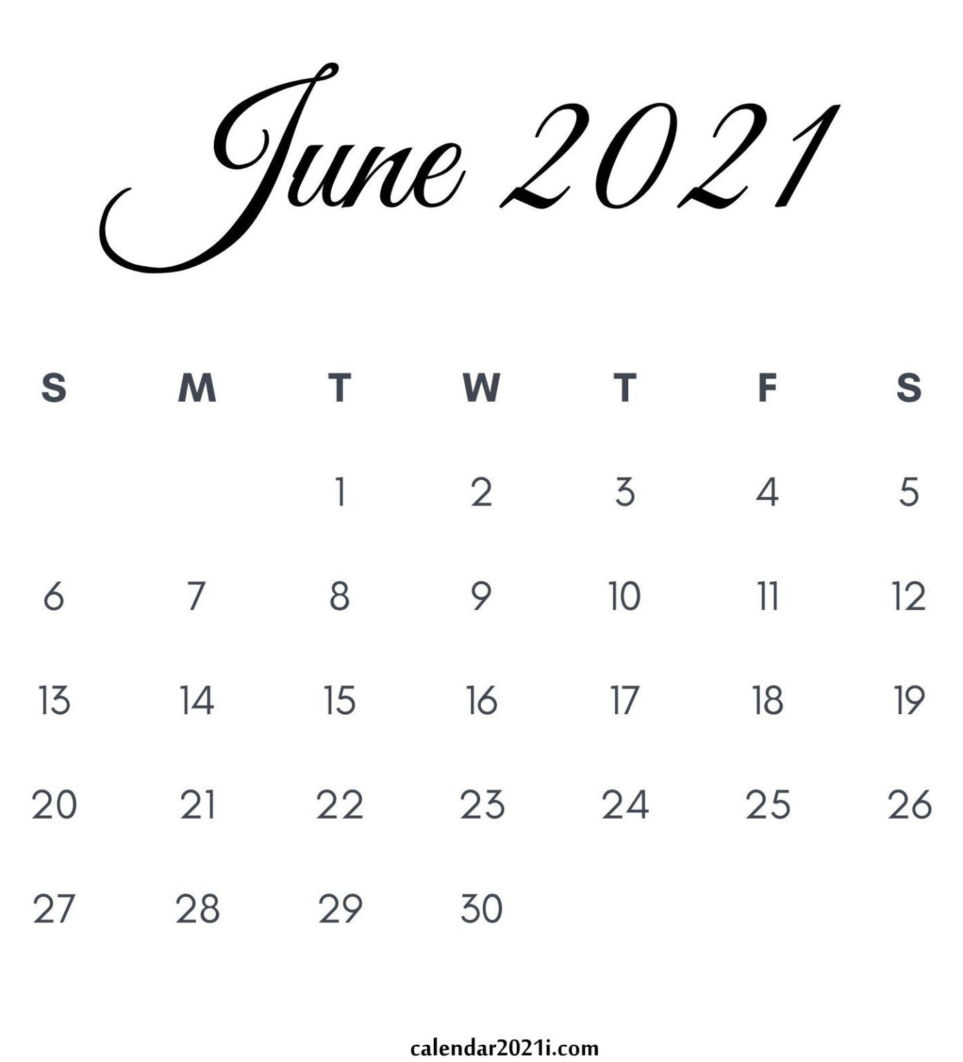 June 2021 Calendar Printable | June Calendar Printable