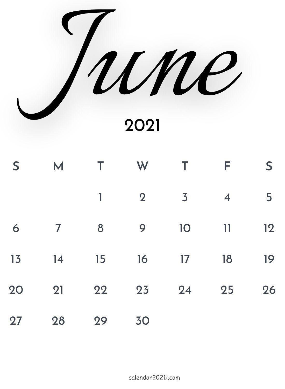 June 2021 In Calligraphy