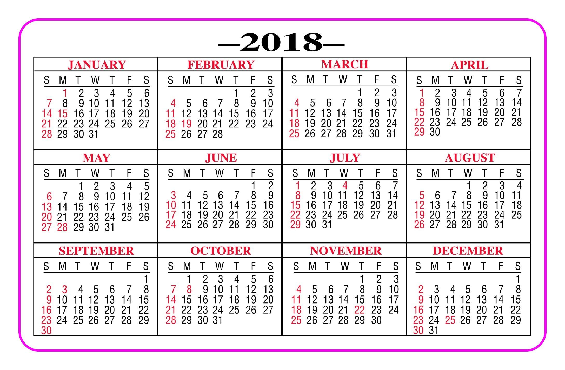 Lovely Printable Pocket Calendars | Free Printable Calendar