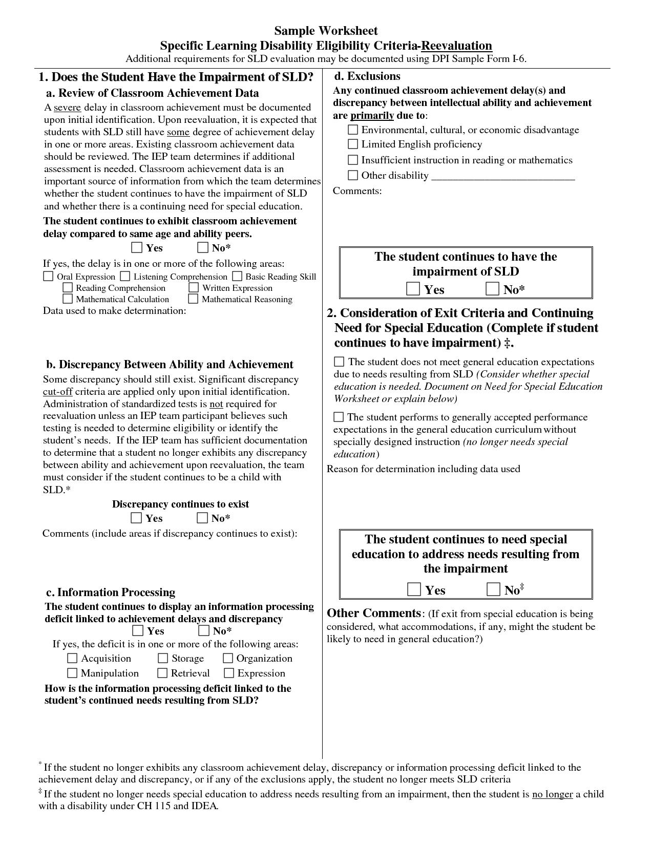 Mcgeer Criteria Worksheet | Printable Worksheets And