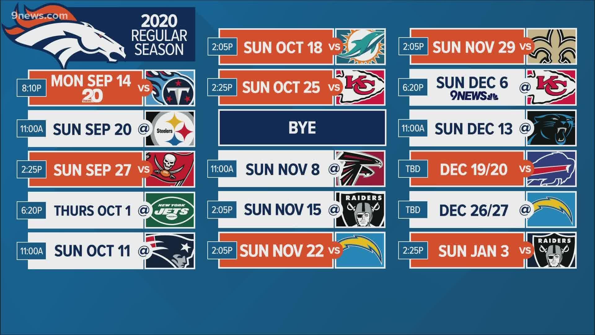 Mike Klis Breaks Down 2020 Broncos Schedule