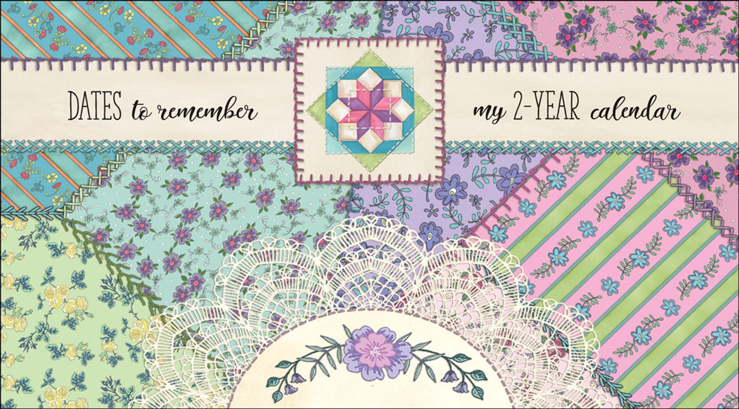 Nancy Mink Crazy Quilt 2 Year Pocket Calendar 2021/2022