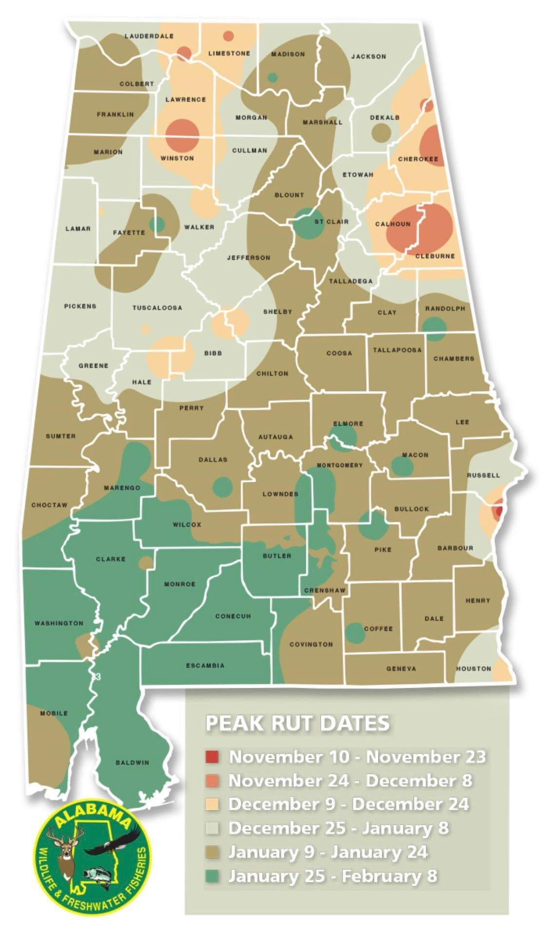 New Alabama Rut Map - Aldeer
