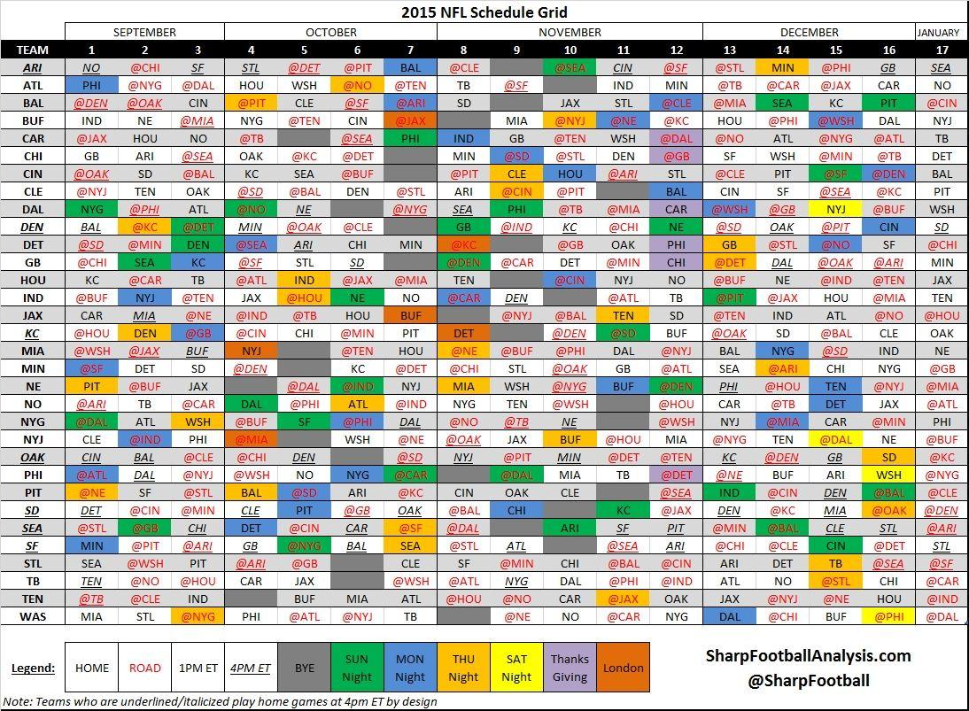 Nfl Calendar Week 6 | Nfl Calendar, Weekly Calendar, Daily