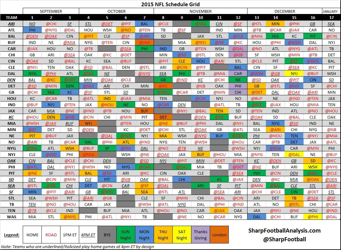 Nfl Calendar Week 6   Nfl Calendar, Weekly Calendar, Daily