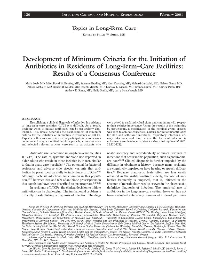 Pdf) Development Of Minimum Criteria For The Initiation Of