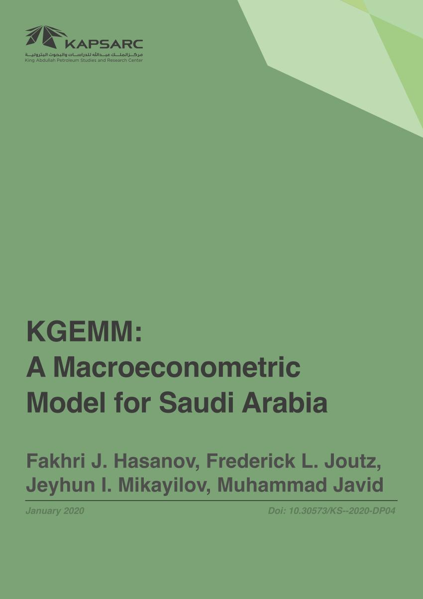 Pdf) Kgemm: A Macroeconometric Model For Saudi Arabia