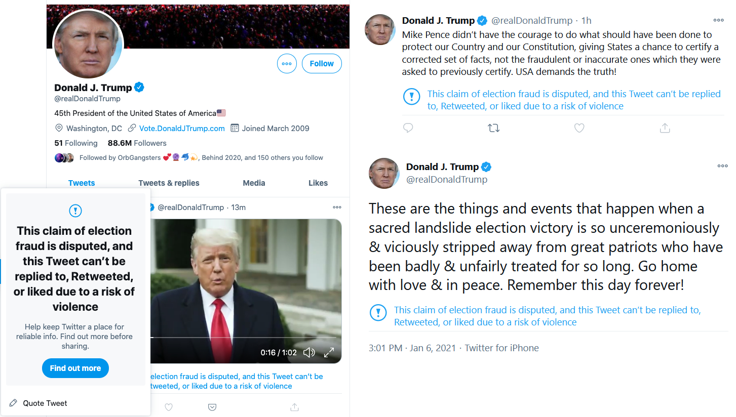 President Trump Has His Twitter Account Suspended For 12