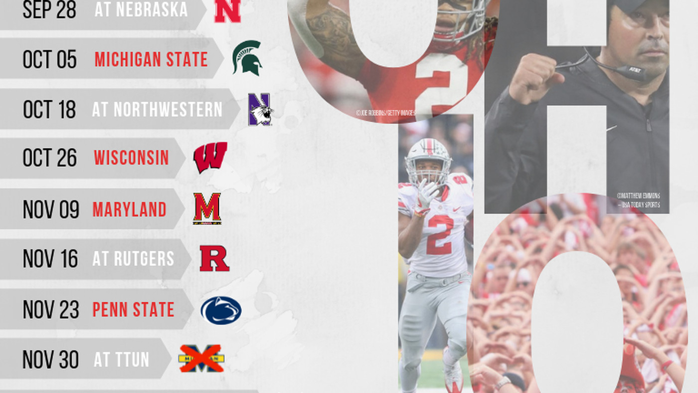 Printable 2019 Ohio State Football Schedule - Land-Grant