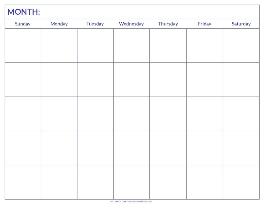 Printable Blank Calendar | Blank Calendar Pages, Printable