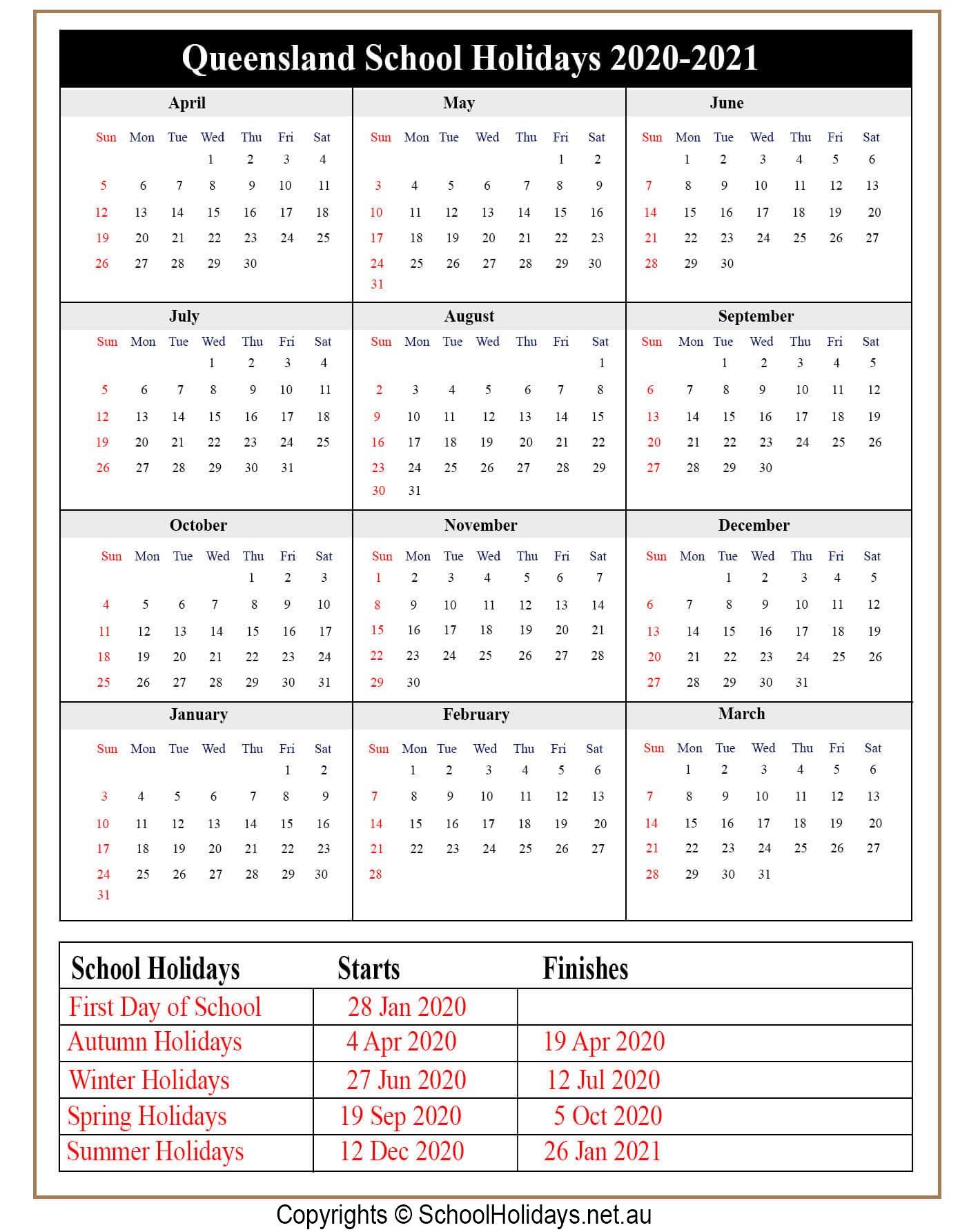Qld *School Holidays* 2020 [Queensland]❤️