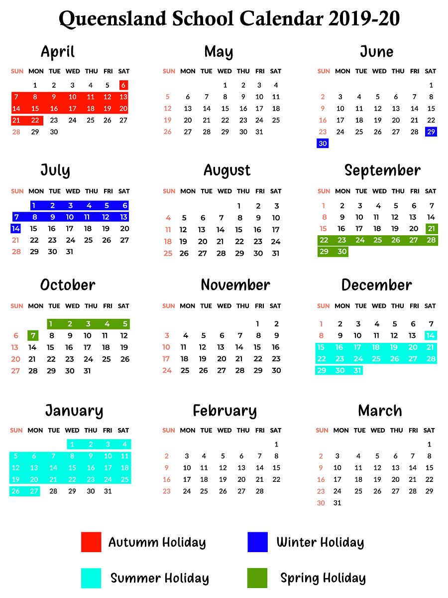 Qld School Holidays Calendar 2019 – 2020 | Qld School Holidays