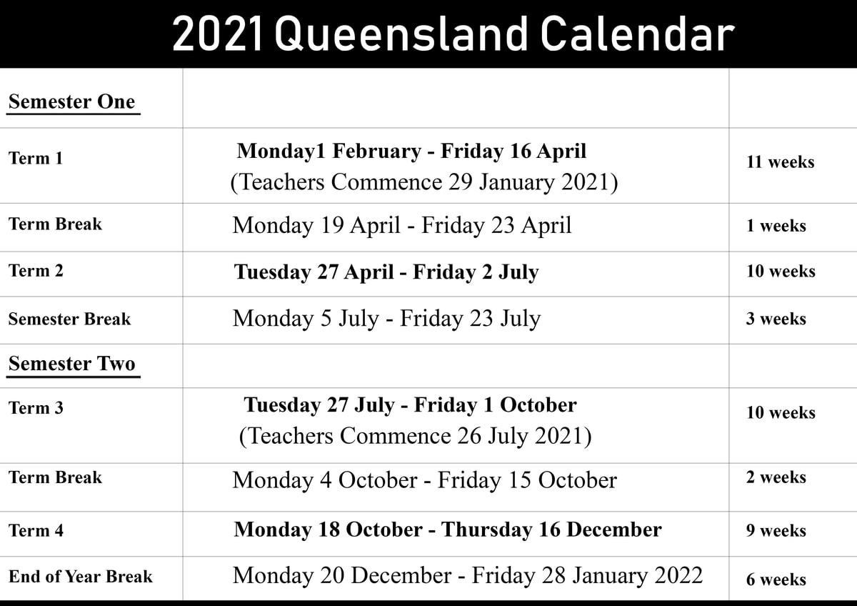 Qld School Holidays Calendar 2021 – 2022 | Qld School Holidays
