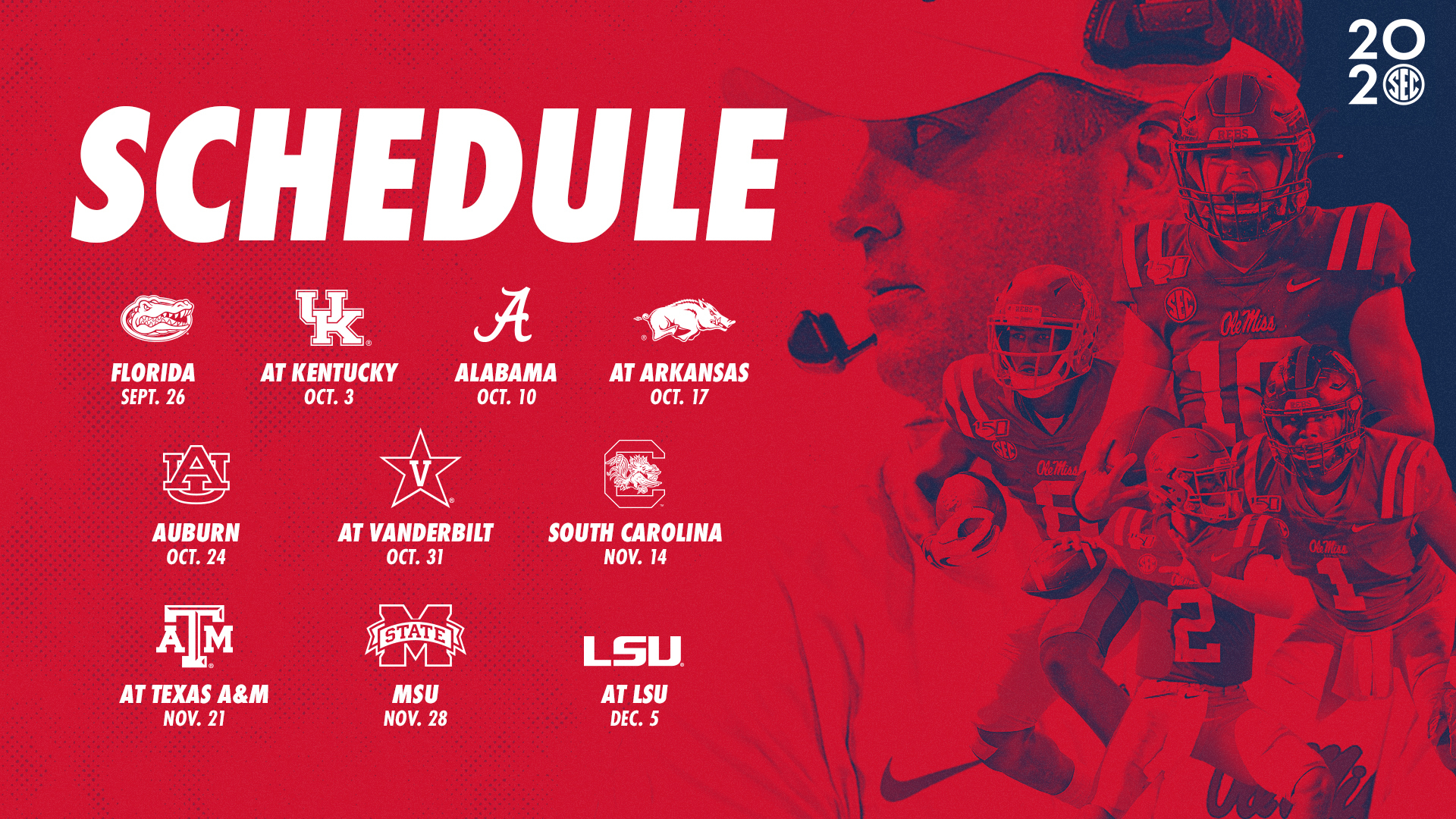 Revised 2020 Ole Miss Football Schedule Announced - Ole Miss