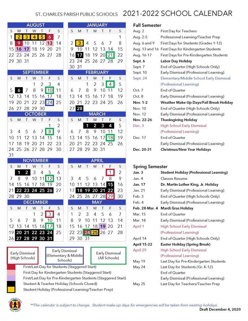 School Board Proposes 2021-2022 Calendar