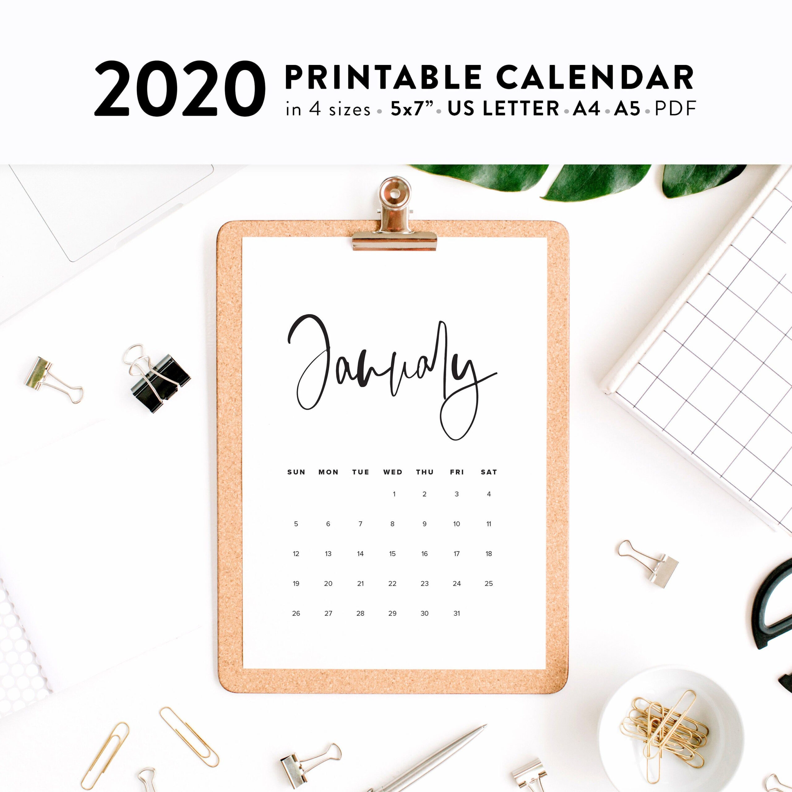 Calligraphy Calendar Pdf