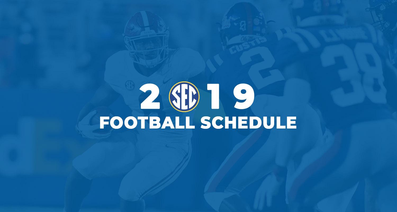 Sec Announces 2019 Football Schedule