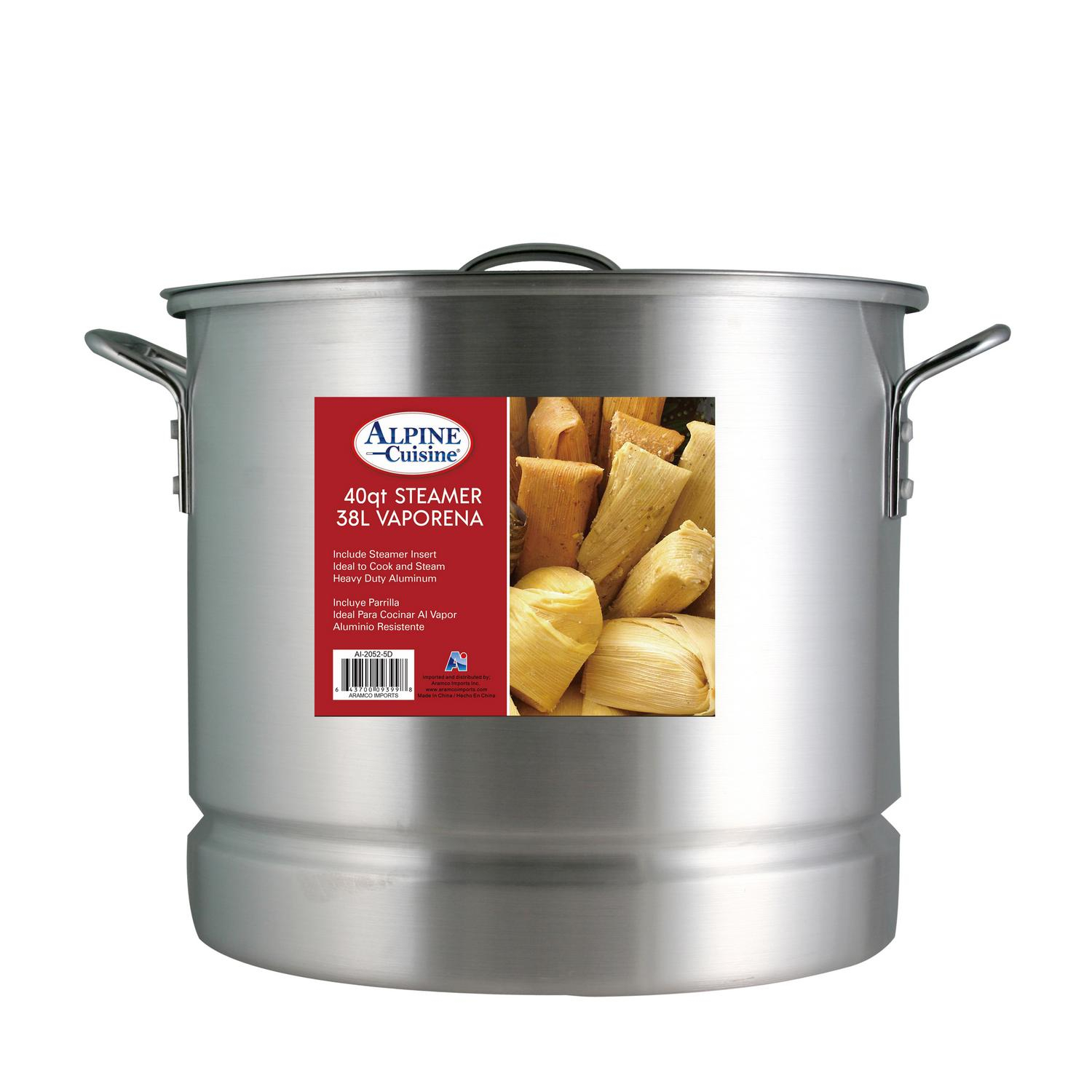Stock Pot 15 Piece Set Mexican Style Ollas Tamalera De Sopa Caldo Great  Quality Aluminum With Lid And Steamer 20, 24, 32, 40, 52 Quart