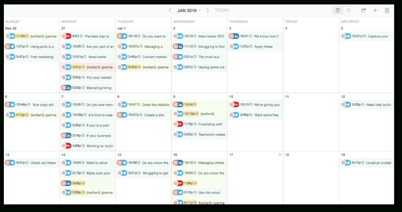 The Only Content Calendar Template You'Ll Need In 2021