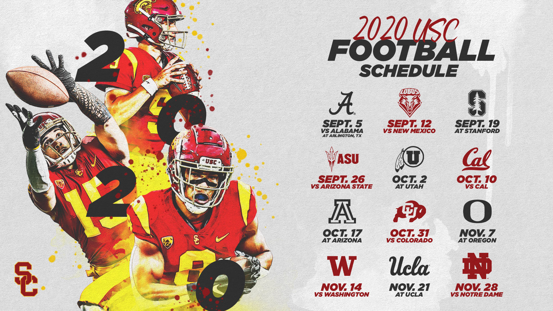 Usc'S 2020 Football Schedule Announced - Usc Athletics