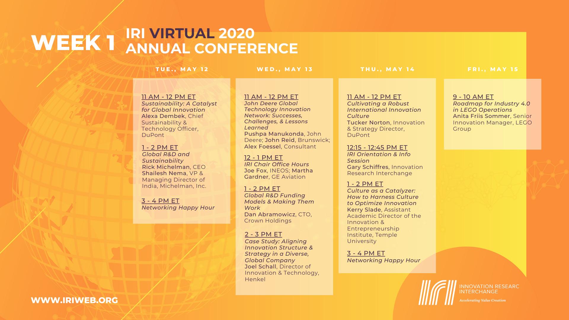 Vac20 Agenda Wk 1 2020.05.11 2 | Iri