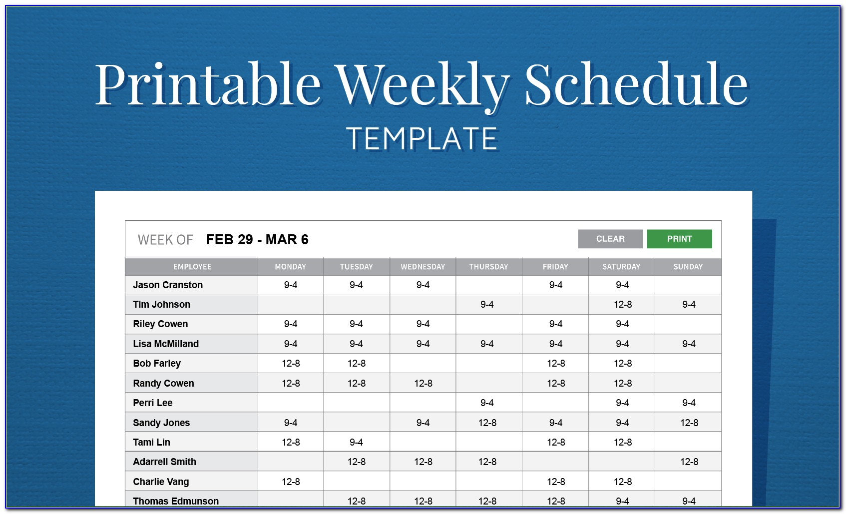 Work Calendar Template Excel | Vincegray2014