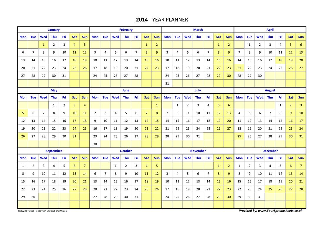 Year Planner Sweden