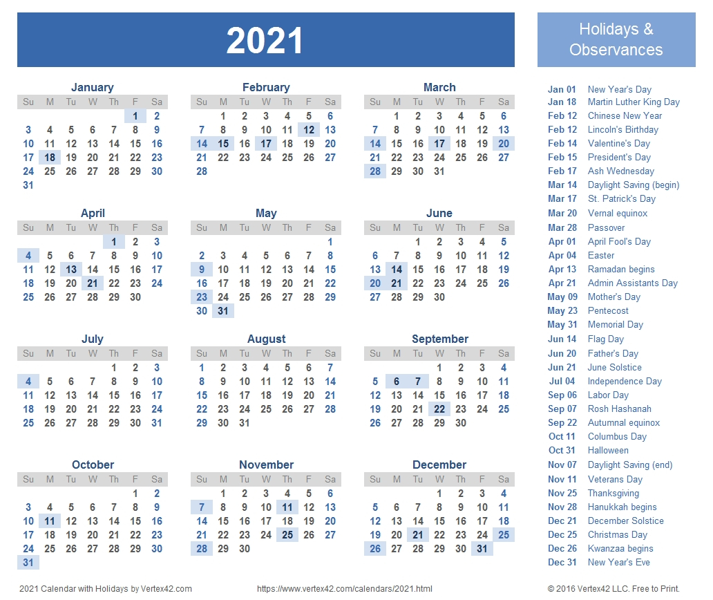 12 Month Calendar 2021 Printable - Template Calendar Design