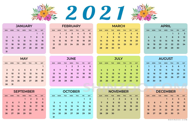 11×17 Printable Calendar 2021   Free 2021 Printable Calendars