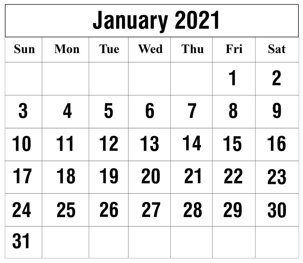 12 Month January 2021 Printable Calendar   Printable March