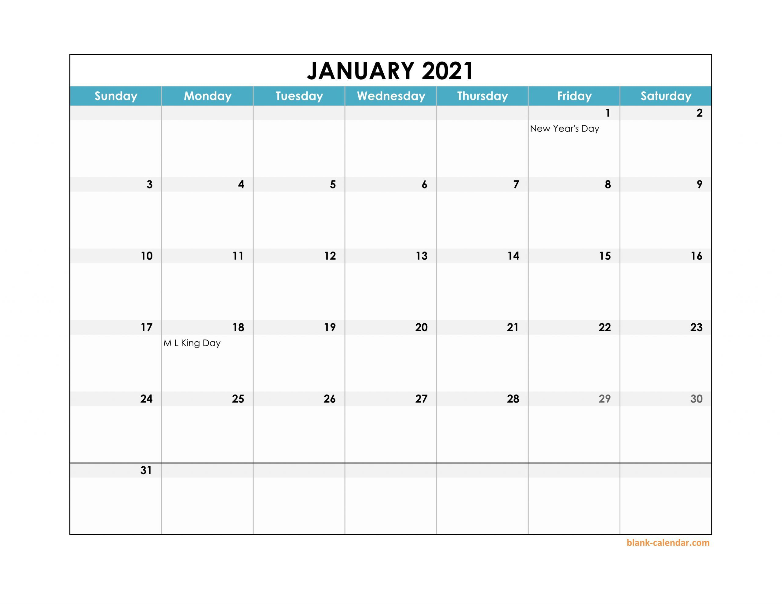 20+ Calendar 2021 Excel Download - Free Download Printable