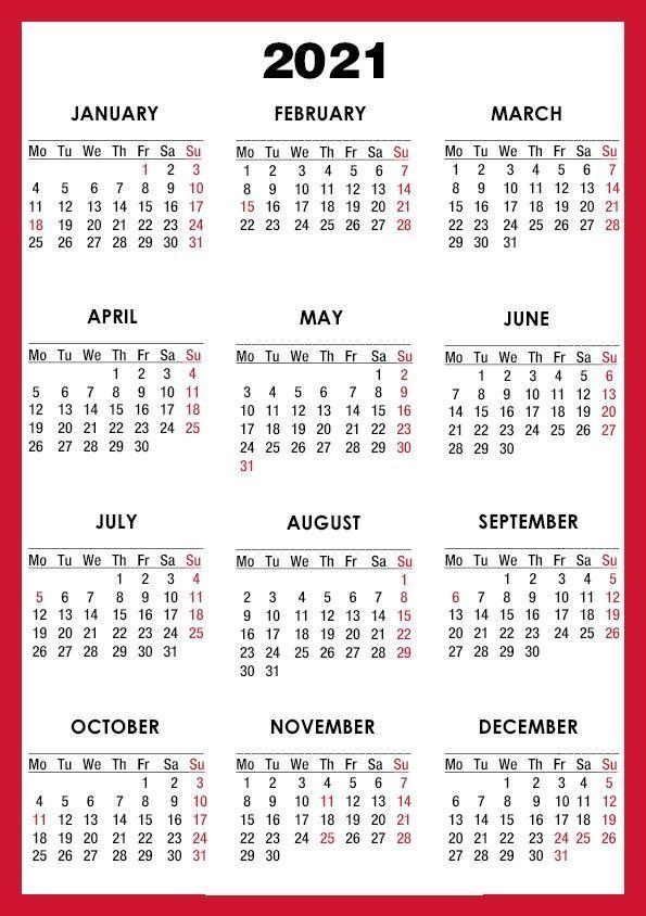 20+ Calendar 2021 Small - Free Download Printable Calendar